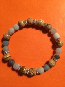 jade and amazonite bracelet